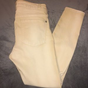 7 for all mankind yellow skinny crop jeans
